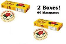 DE LA ROSA MAZAPAN (2 BOXES) 60ct, Peanut Confection Marzipan,Mexican Candy