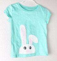 Colette Lilly Girls Top Bunny Raised Design Short Sleeve Foam Green Size Small 4