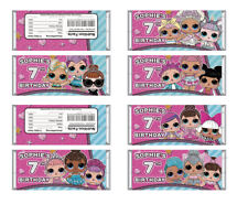 12x LOL SURPRISE DOLLS CHOCOLATE WRAPPER PARTY LOLLY TAGS LOOT TOPPERS FAVOUR