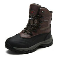 US Men's Winter Snow Boots Insulated Waterproof Construction Rubber Sole Boots
