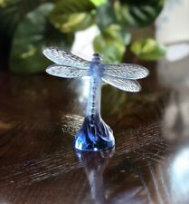 "Lalique Crystal ""Dragonfly"" Figurine - Beautiful Blue Mint & Signed"
