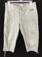 Lee capris pants size 14 green just below waist 4 pockets leg ties