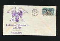 Louisiana Masonic Stamp Club Cachet 1963 Sesquicentennial Celebration LOT 1215