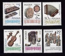 Postfrische Briefmarken aus Polen mit Musik-Motiv als Satz