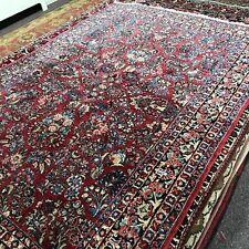 "Antique Sarouk Room Size Carpet 7'3"" by 9'"