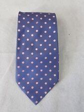 Pure Silk Mens Tie Purple Pink Polka Dot 100% Silk Classic Fit