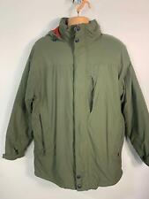 Hawkshead Verde Invierno informales para hombres Acolchada con Capucha Abrigo Chaqueta Tamaño Grande De Lluvia