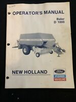 New Holland Operator's Manual Baler D1000 *712