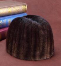 Winter men Real New Mink Fur Hat Cap Headgear Beanie Beret QS 00052.1