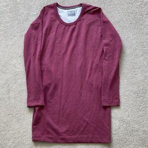 BAM Bamboo longline sweatshirt size 10 dark red tunic jumper