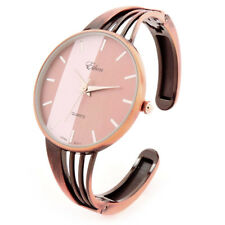 Copper String Style Band Luxury Women's Bangle Cuff Watch