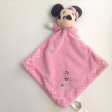 Disney Minnie Mouse Security Blanket Pink Polka Dot Embroidered Lovey