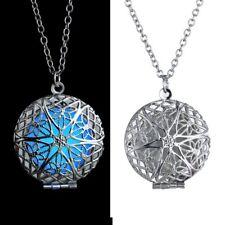 Steampunk Round Women Luminous Magic Locket Glow In The Dark Pendant Necklace