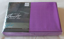 Designer Selection Purple Embossed Queen Bed Microfibre Quilt Cover Set New