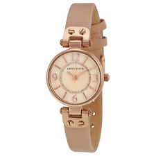 Anne Klein Rose Mother of Pearl Dial Pink Blush Leather Ladies Watch 9442RGLP