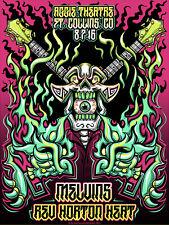 MELVINS / REV HORTON HEAT Ft Collins 2016 silkscreened poster by Jesse Hernandez