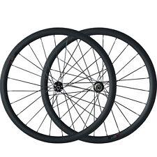Disc Brake Carbon Cyclocross Bike Wheelset 700C 25mm Width 38mm Depth Clincher