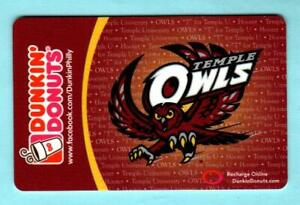 DUNKIN' DONUTS Temple Owls 2012 Gift Card ( $0 )