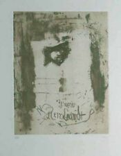 "Antoni Clave ""To Rembrandt"" Etching & Aquatint S/N"