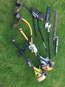 2 Ryobi Petrol Strimmers And  Expand-it Hedge Trimmer / Chainsaw/ Bush Cutter