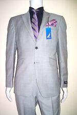 40R Suit Light Grey Spring Summer Diagonal Trendy Pockets 100%w Full cut 40R=50E