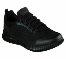 Skechers Black Shoes Women Work Memory Foam SlipOn Slip Resistant 77260 BLK