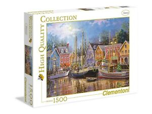 Clémentoni -Puzzle 1500 Pièces -High Quality Collection -Sailing In The village