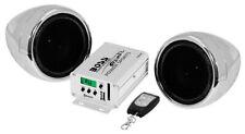 BOSS AUDIO 600 WATT SOUND SYSTEM CHROME POLARIS RANGER RZR & KAWASAKI ALL
