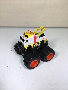 Rare Micro Machines 4x4 Crushers Semi Tow Truck Shell Oil Yellow White Galoob