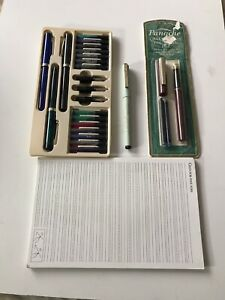 Vintage But Unused SHEAFFER, PANACHE, DESIGN EF Pen/s For Calligraphy & Cartdgs