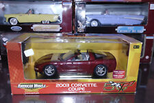 CHEVROLET CORVETTE 2003 50 ANNIVERSARY 1/18 AMERICAN MUSCLE ERTL NEUVE