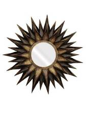 Metal Sun Flower Big Copper Gold Sun Burst Brown Wall Decor Craft Mirror Works