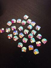 Sew On Stitch clear AB 10x Jewel 12mm GEM CRYSTAL RHINESTONE trim DANCE