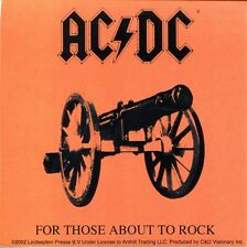 AC/DC for those about to rock STICKER **Free Shipping**