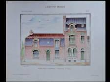 CAMBRAI, HOTEL PARTICULIER - 1907 - GRANDE PLANCHE COULEUR - GARET