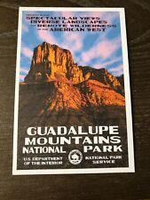 Guadalupe Mountains National Park Texas WPA  Style Postcard
