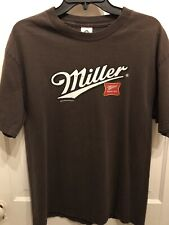 Miller Time T-Shirt. Cotton , Short Sleeve. Classic Tee In Brown