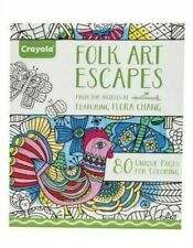 Crayola Adult Coloring Folk Art Escapes Coloring Pages