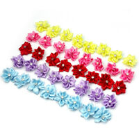 40pcs-U pick satin ribbon flowers bows with Appliques Sewing Craft DIY Wedding