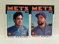 METS 1986 Topps Ron Darling + Bruce Berenyl UNCIRCULATED