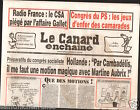CANARD ENCHAINÉ Birthday Newspaper JOURNAL NAISSANCE 8 AVRIL APRIL 2015