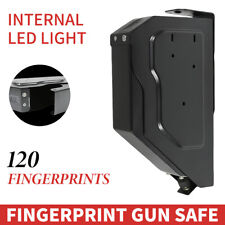 120 Fingerprints quick Access Handgun Pistol Box Desk Drawer Biometric Safe Us