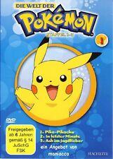 DIE WELT DER POKEMON 1   1. Staffel / Folgen 1-3    DVD #ZZ   Pokémon