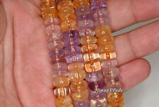 9X4MM  MIX QUARTZ GEMSTONE RONDELLE LOOSE BEADS 7.5""