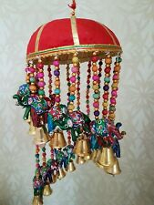 Colourful Indoor Wind Chime, Elephants Bells Charming Indian