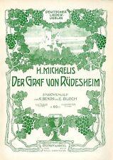 Leipzig Breitkopf & Härtel Studentenlied Historische Kunst- Annonce von 1909