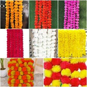 Wholesale Lot 20 Pc Artificial Marigold Multi-Flower decor Garland Wedding Event