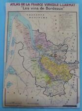 Map Expo School Poster set table Wine Atlas of Bordeaux Sauternes St Julien Marg