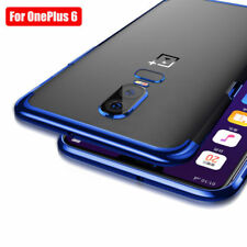 For OnePlus 6 5T 5 Slim Shockproof Electroplate Case Clear Soft TPU Hybrid Cover
