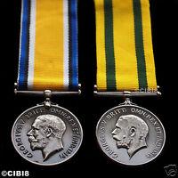 BRITISH WAR MEDAL + TERRITORIAL FORCE WAR MEDAL - WORLD WAR 1 CAMPAIGN SERVICE